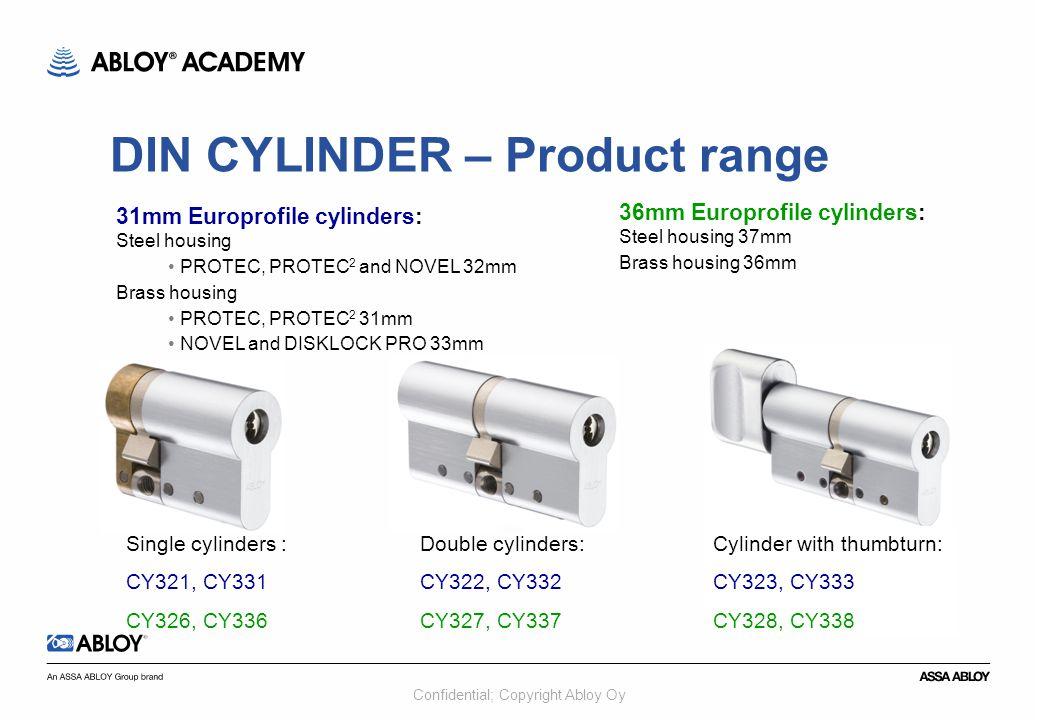 DIN CYLINDER – Product range