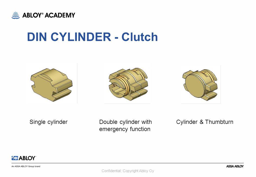 DIN CYLINDER - Clutch Single cylinder