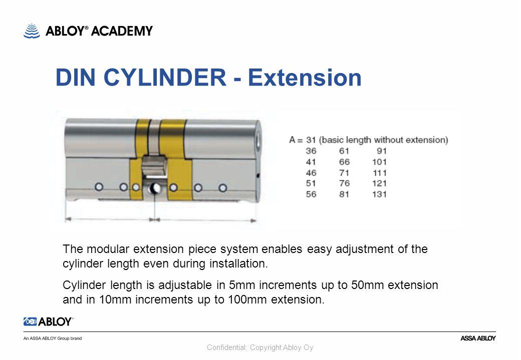 DIN CYLINDER - Extension