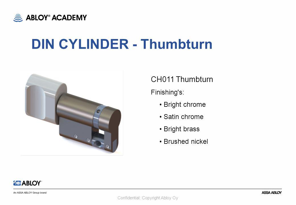 DIN CYLINDER - Thumbturn