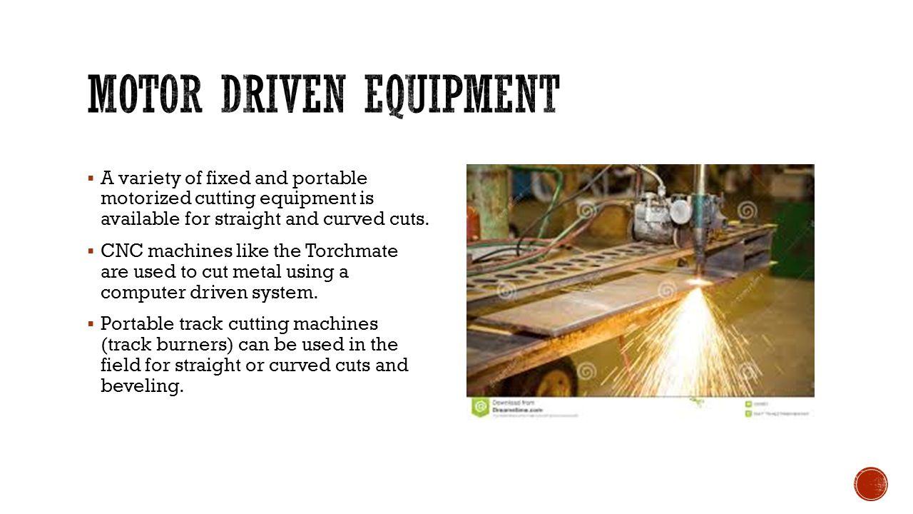 Motor driven equipment
