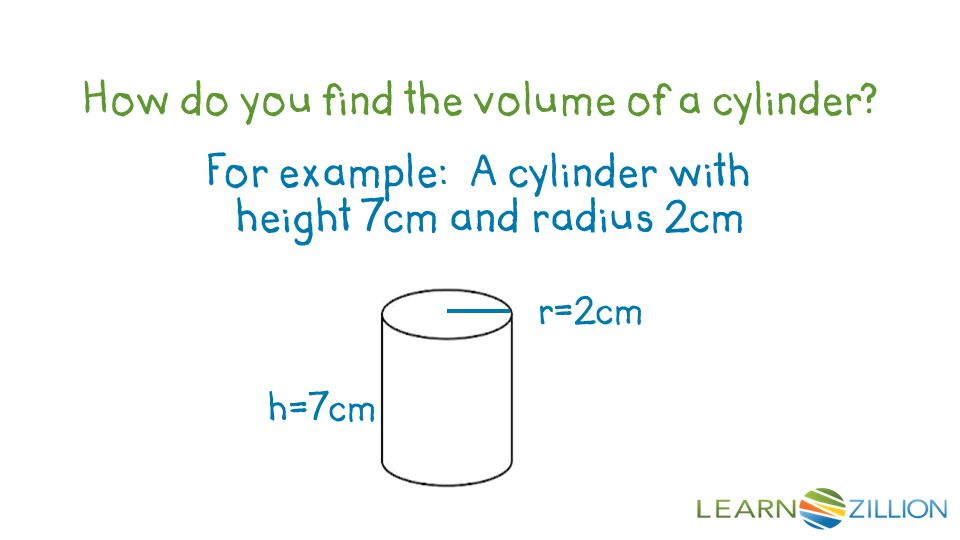How do you find the volume of a cylinder