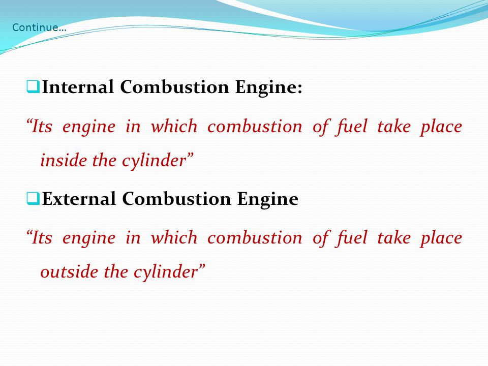 Internal Combustion Engine: