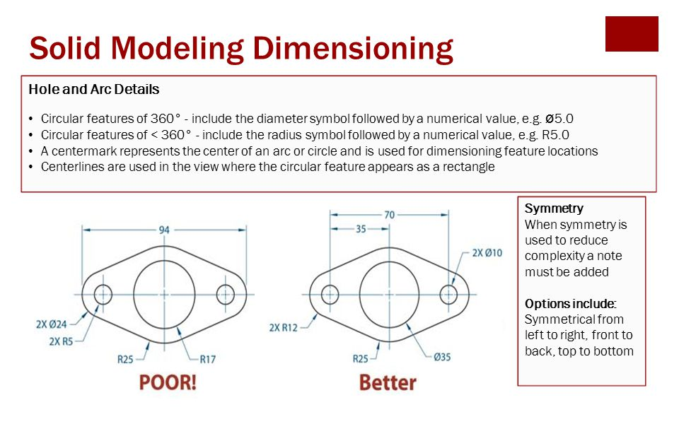 Solid Modeling Dimensioning