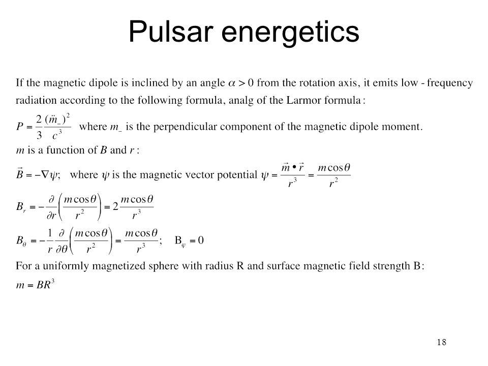 Pulsar energetics