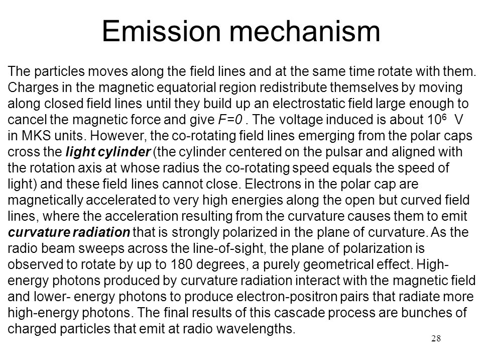 Emission mechanism