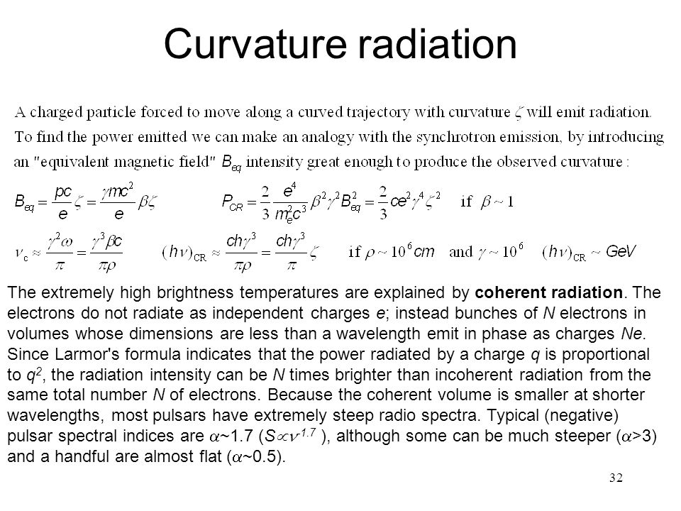 Curvature radiation