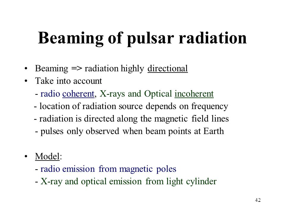 Beaming of pulsar radiation