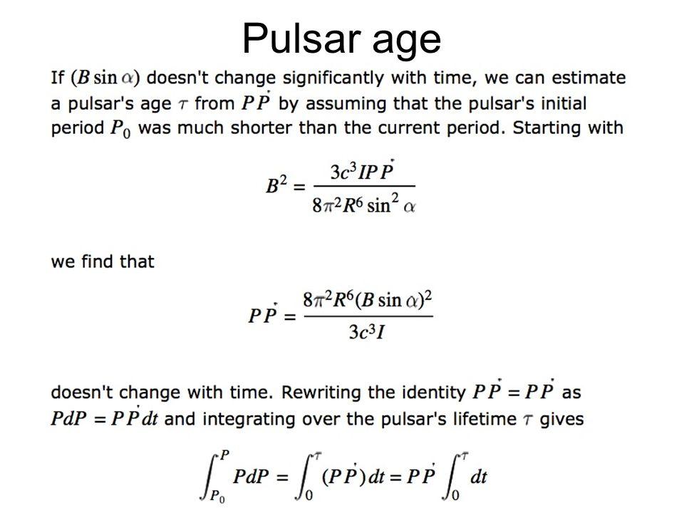 Pulsar age