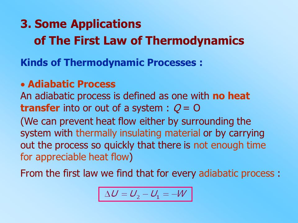 of The First Law of Thermodynamics