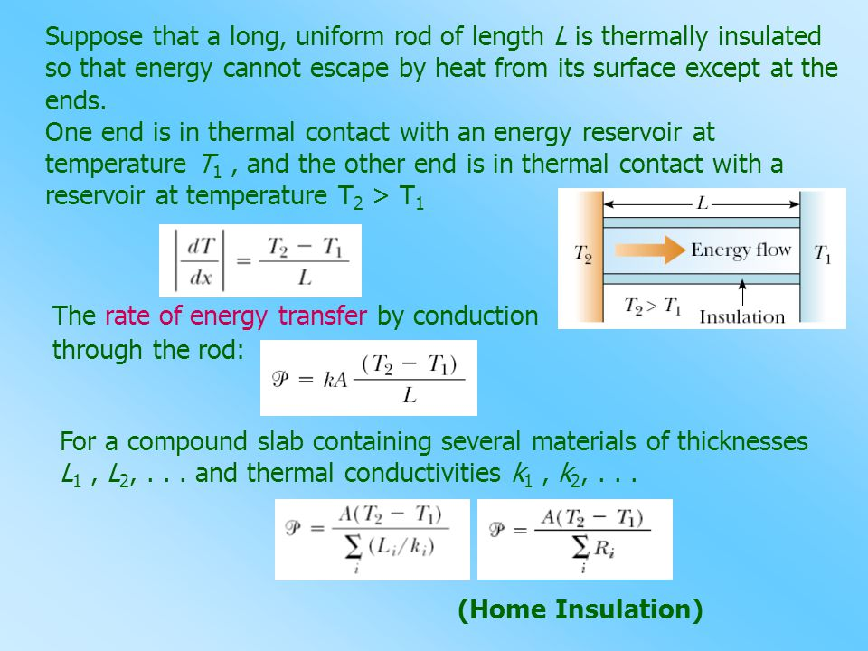 Suppose that a long, uniform rod of length L is thermally insulated so that energy cannot escape by heat from its surface except at the ends.
