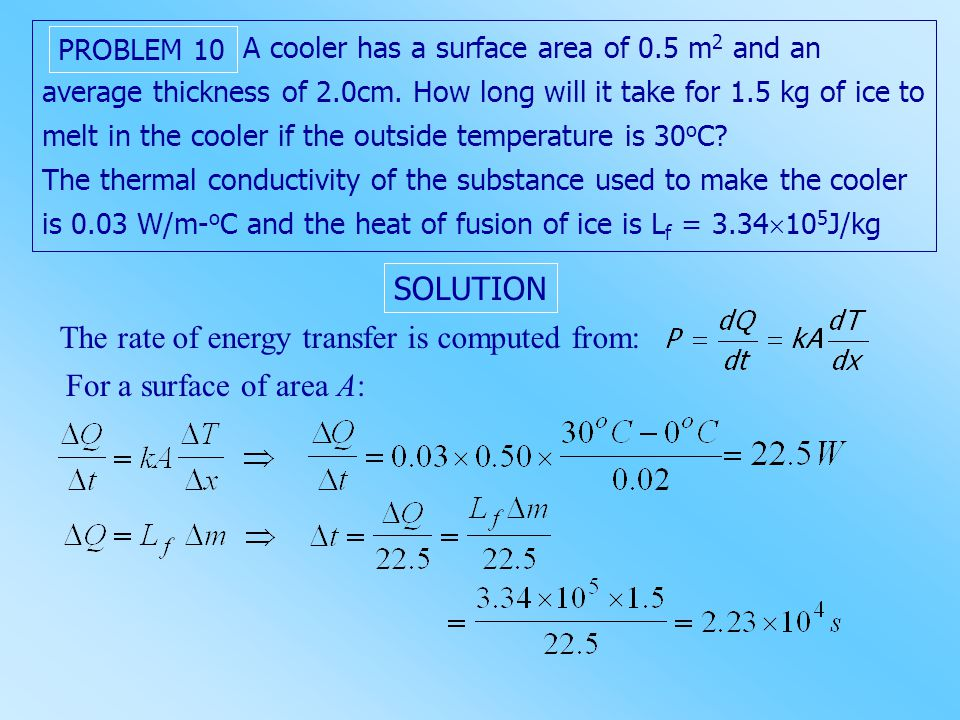 The rate of energy transfer is computed from: