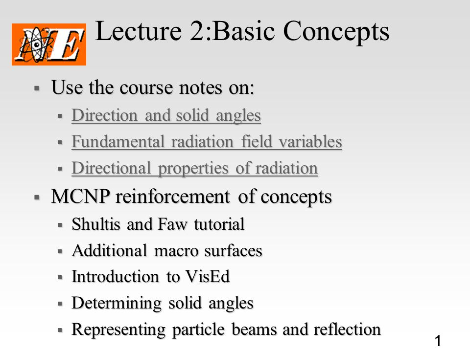 Lecture 2:Basic Concepts