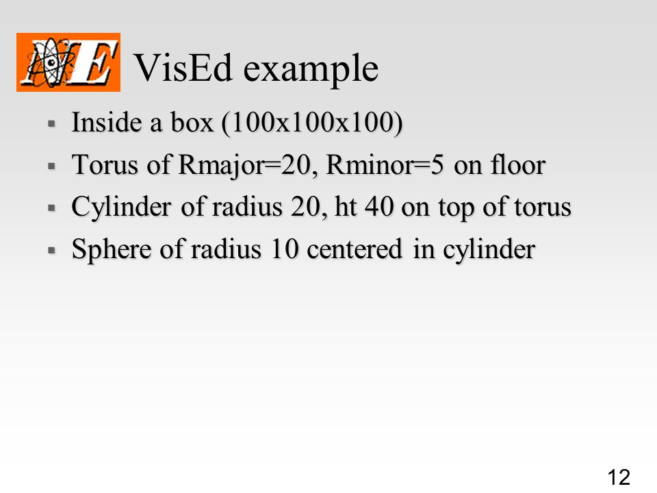 VisEd example Inside a box (100x100x100)