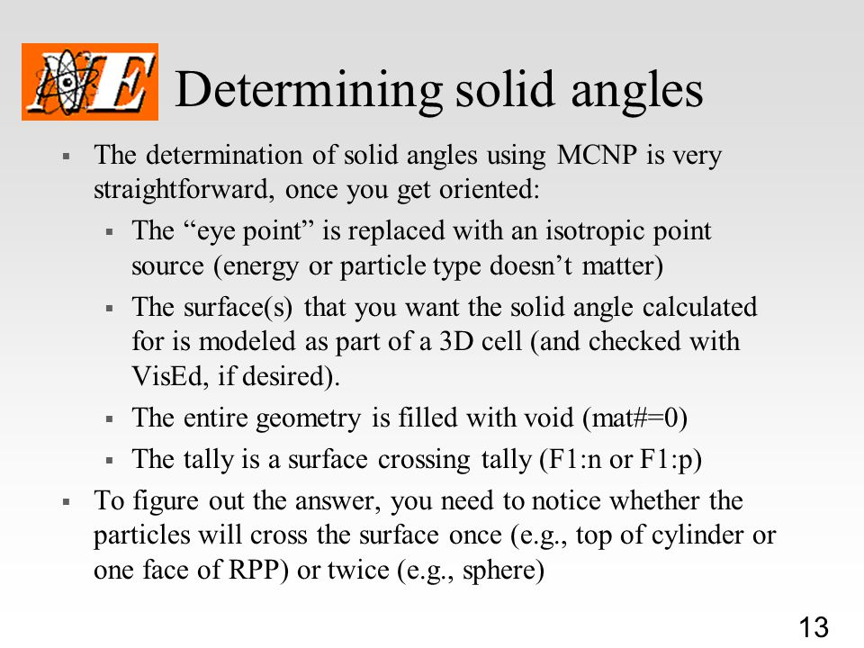 Determining solid angles