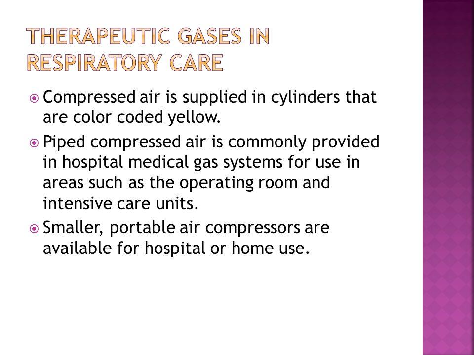 Therapeutic Gases in Respiratory Care