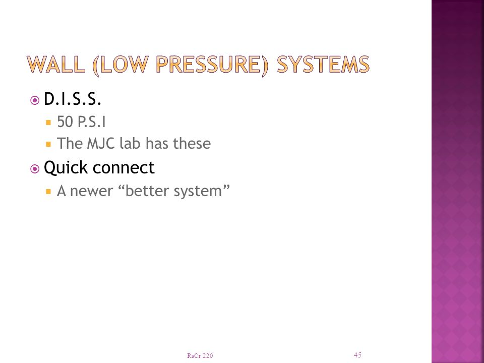 Wall (low pressure) systems