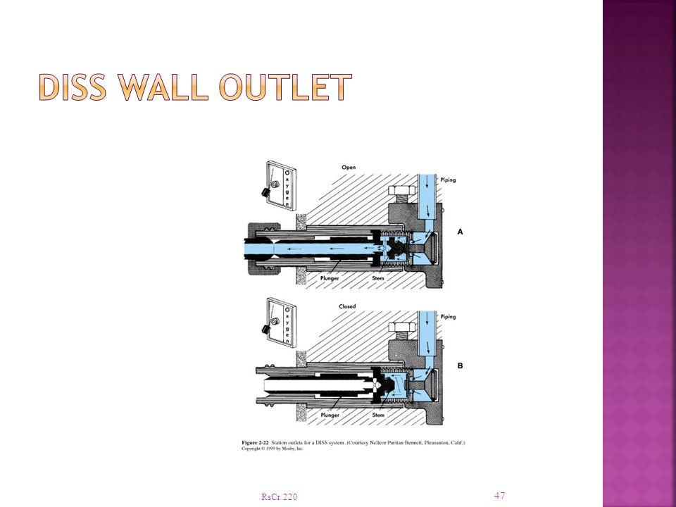 DISS Wall Outlet RsCr 220
