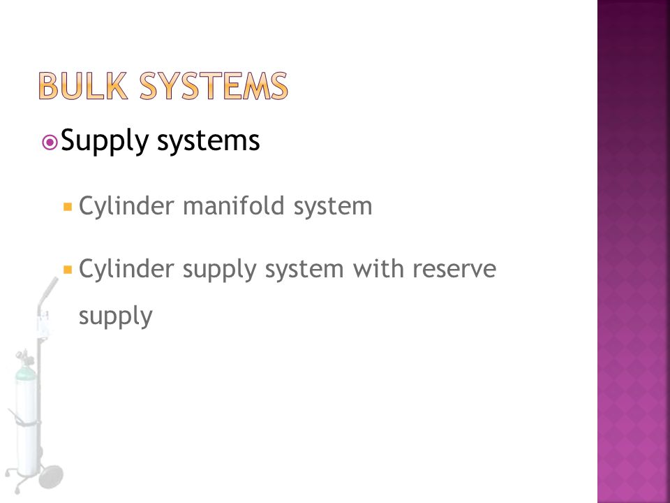 Bulk Systems Supply systems Cylinder manifold system