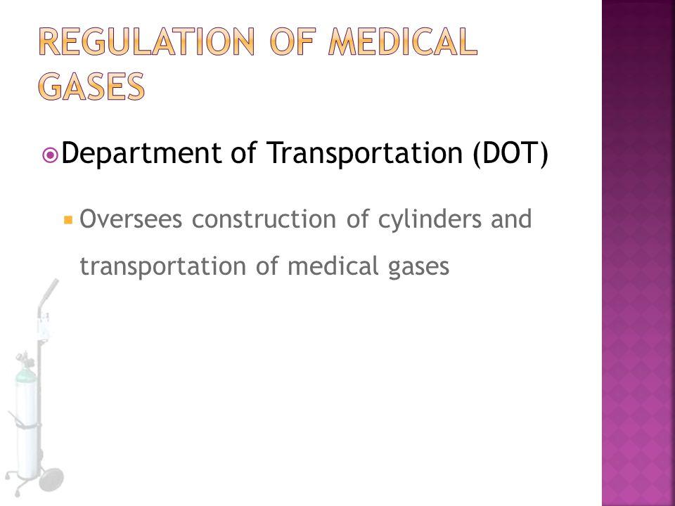 Regulation of Medical gases