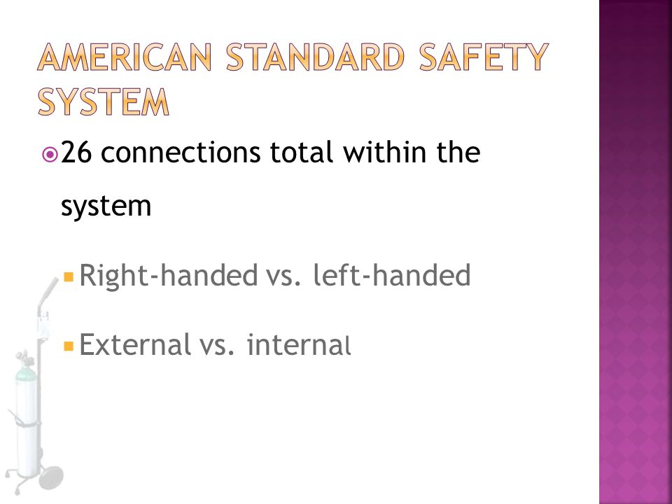 American Standard Safety System