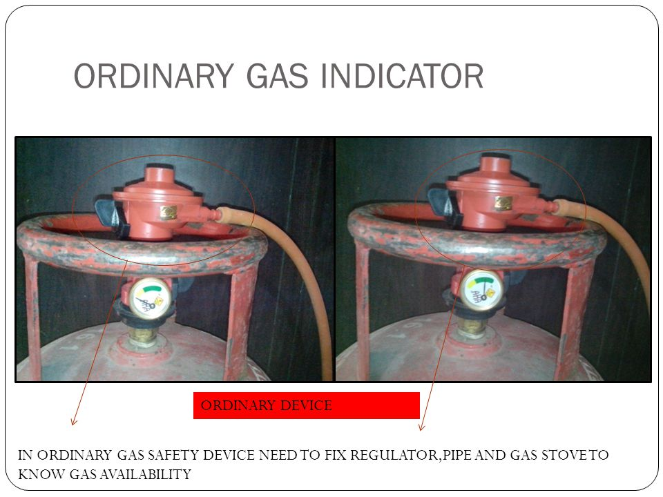 ORDINARY GAS INDICATOR