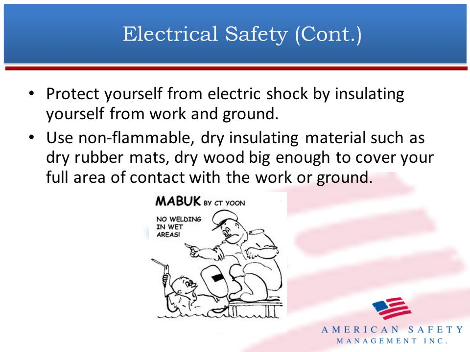 Electrical Safety (Cont.)