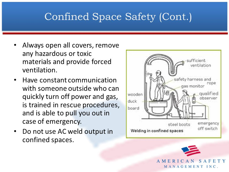 Confined Space Safety (Cont.)