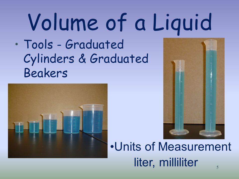 Volume of a Liquid Tools - Graduated Cylinders & Graduated Beakers
