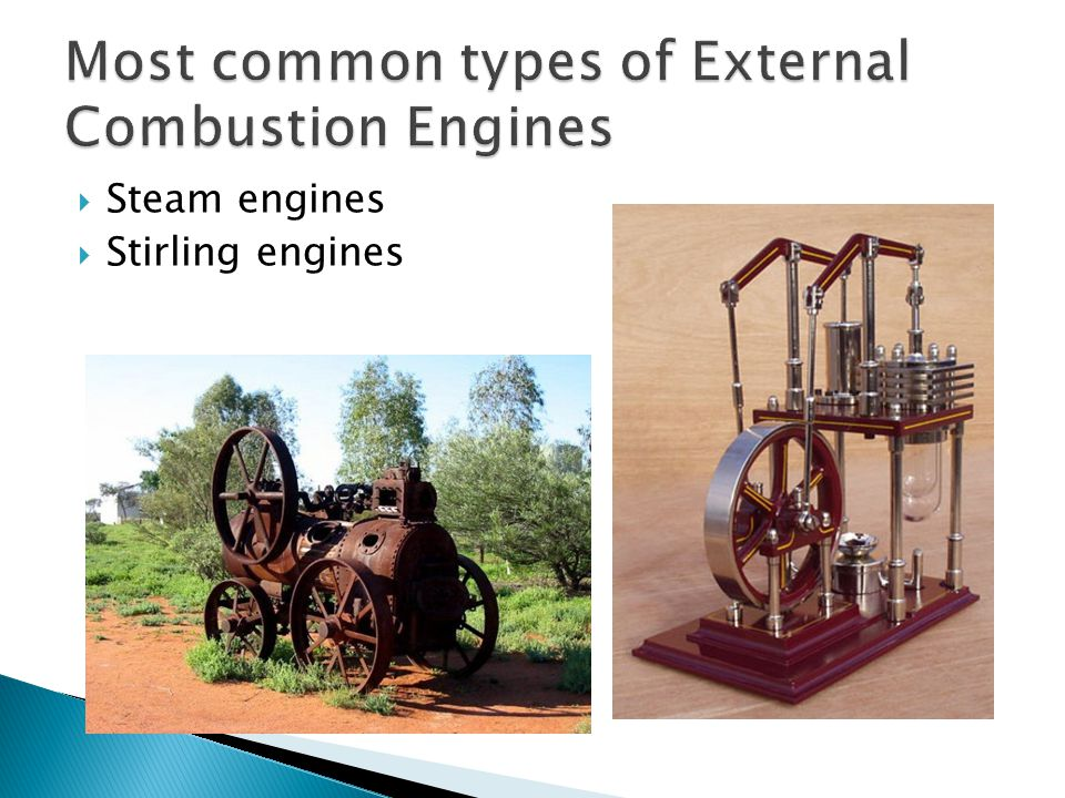 Most common types of External Combustion Engines