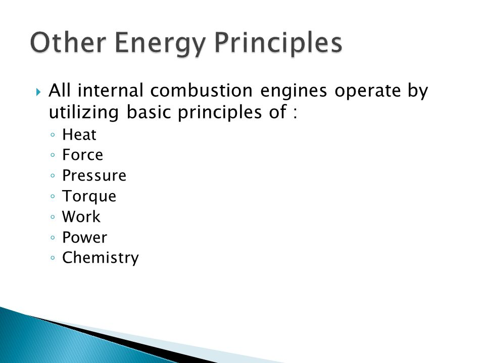 Other Energy Principles