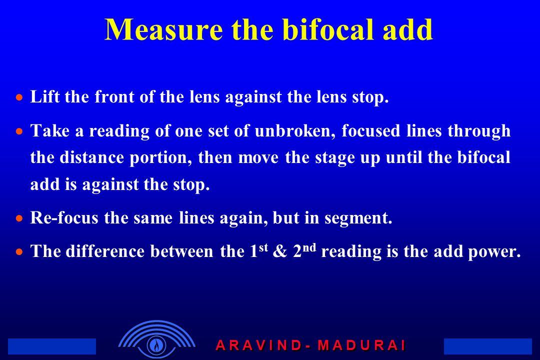 Measure the bifocal add