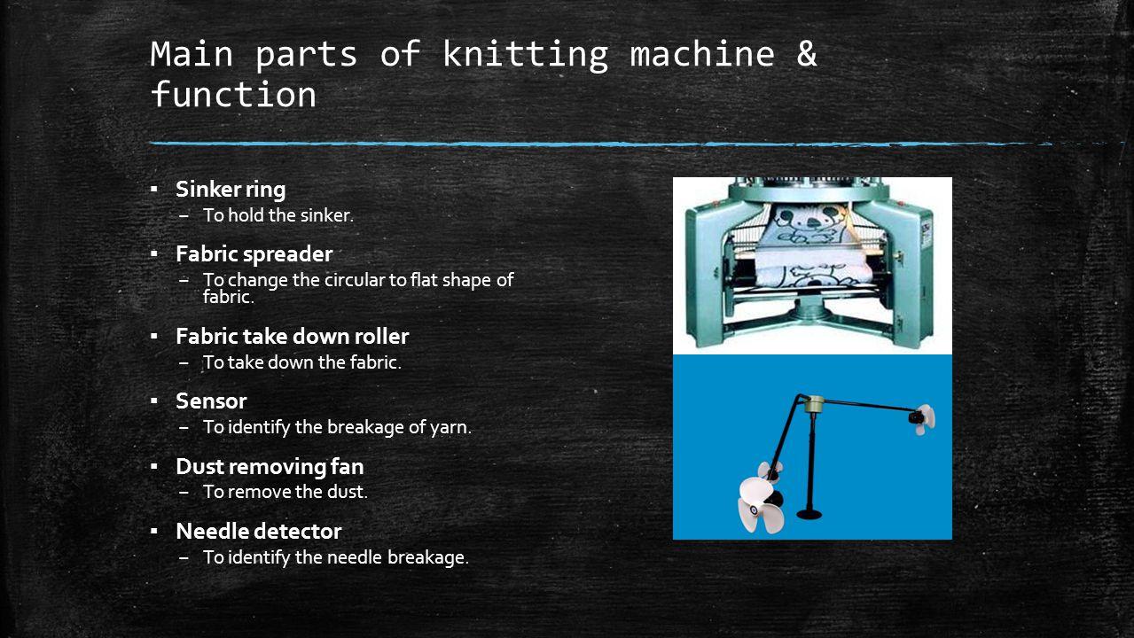 Main Components Of A Fan : Weft knitting machine single jersey rib interlock