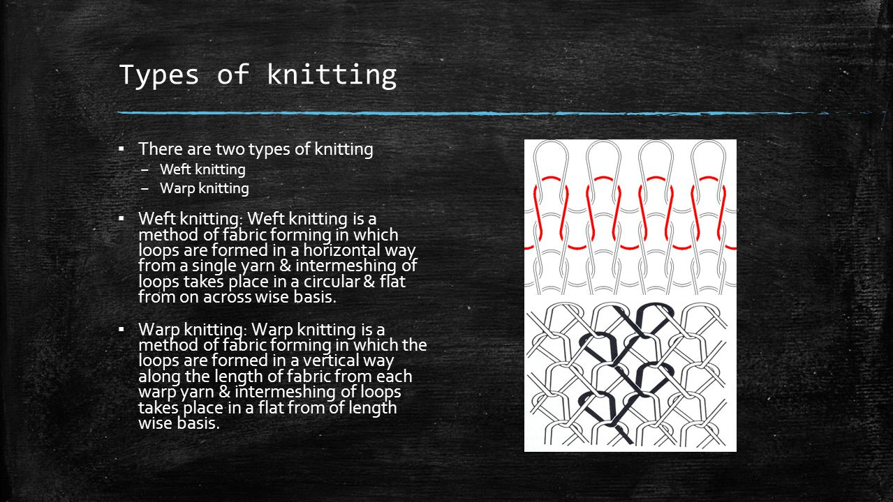 Types of knitting There are two types of knitting