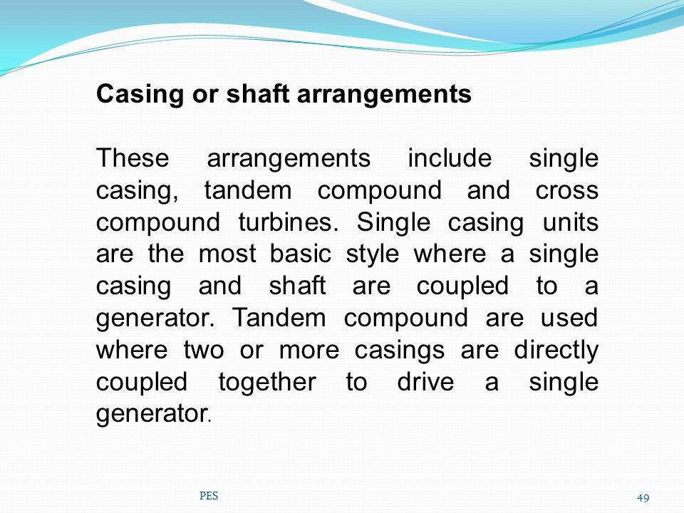 Casing or shaft arrangements