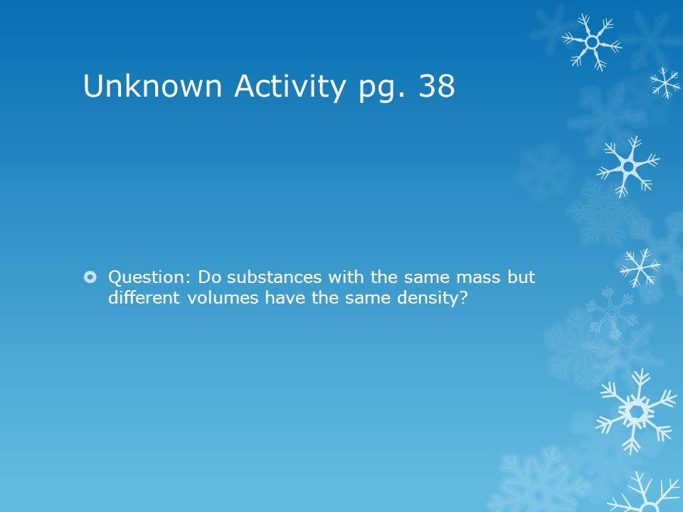 Unknown Activity pg.