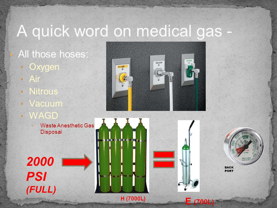 A quick word on medical gas -