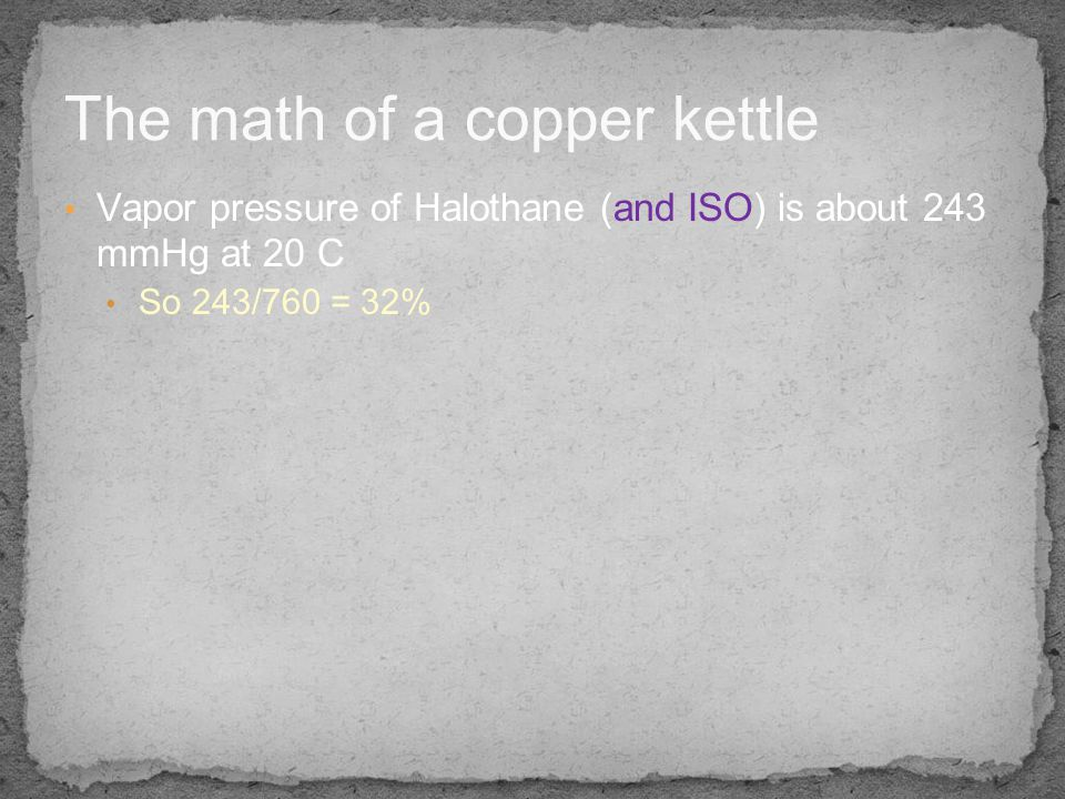 The math of a copper kettle