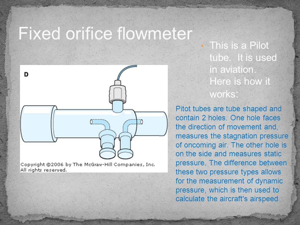 Fixed orifice flowmeter