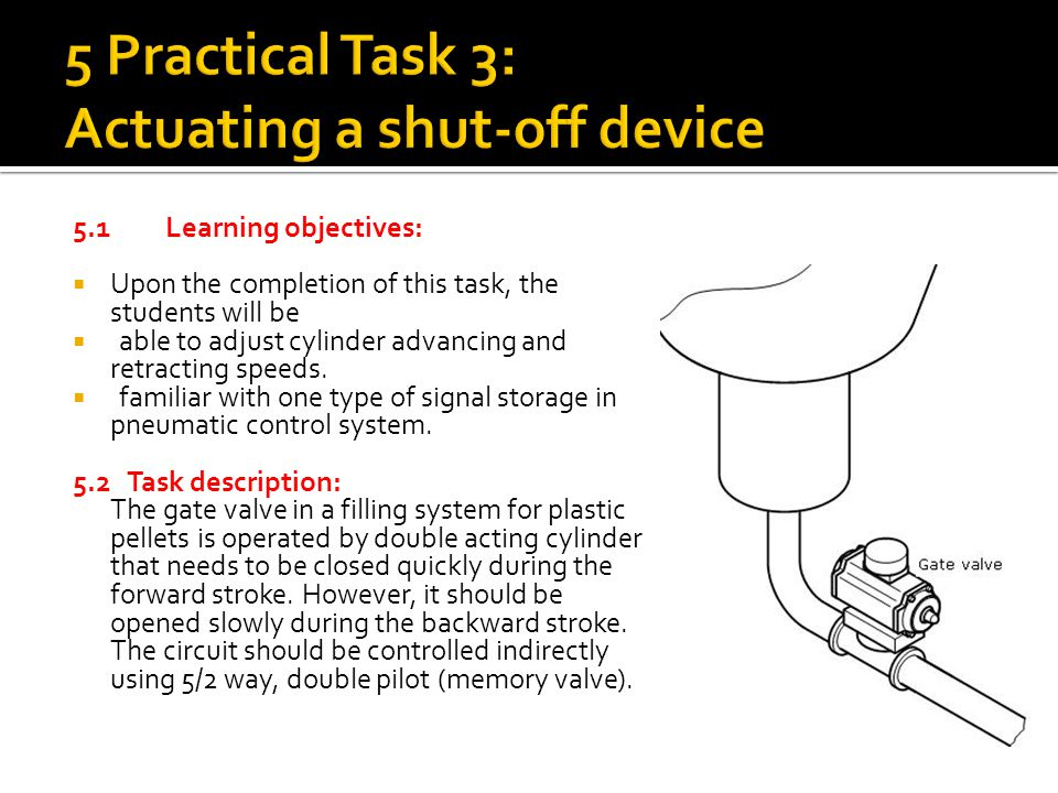5 Practical Task 3: Actuating a shut-off device