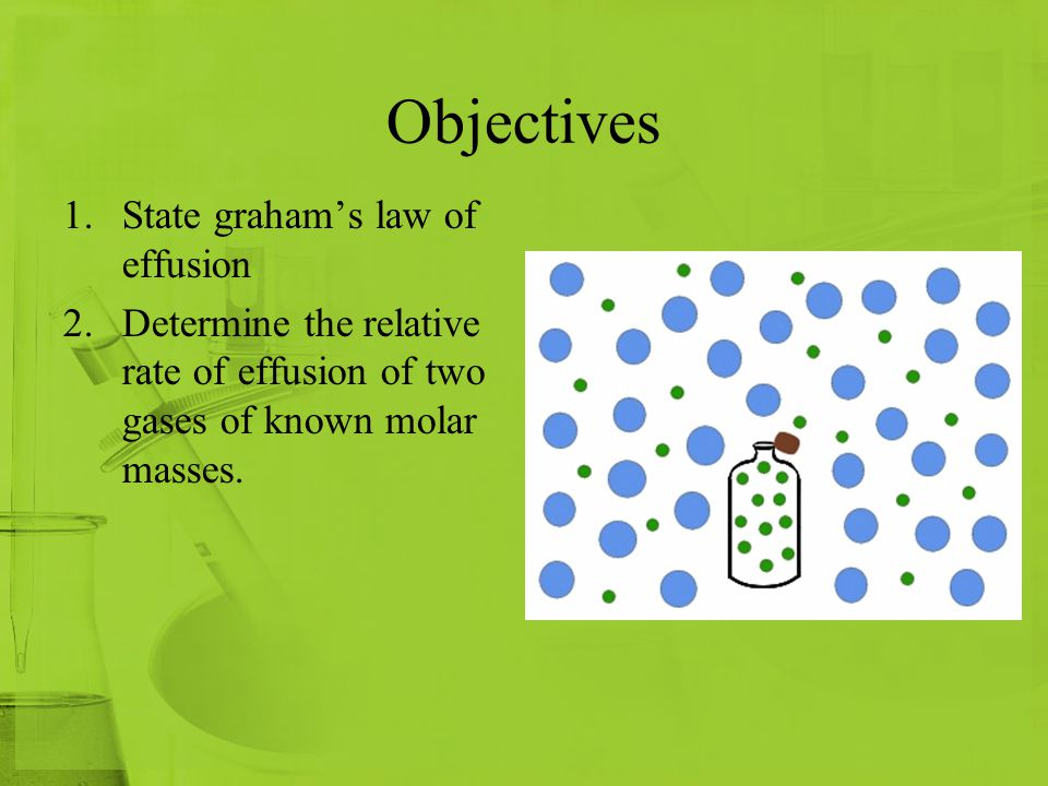 Objectives State graham's law of effusion