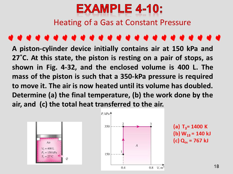 Heating of a Gas at Constant Pressure