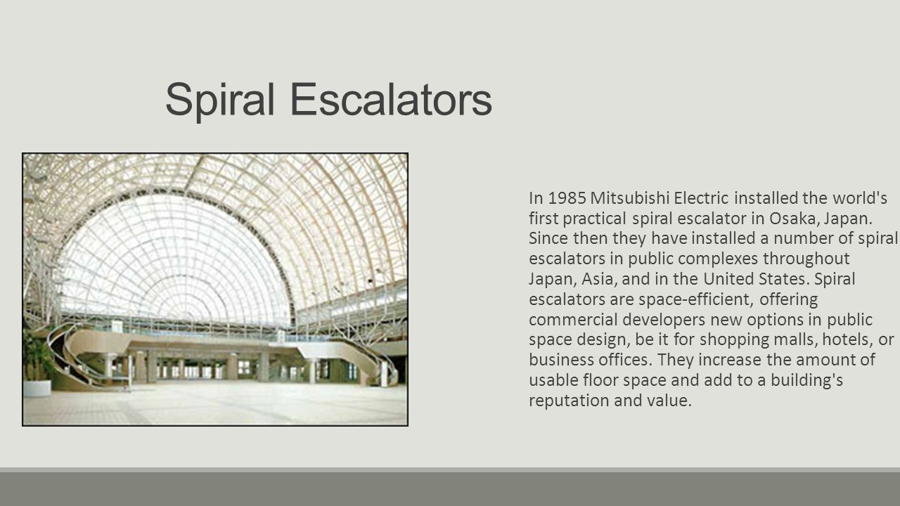 Spiral Escalators