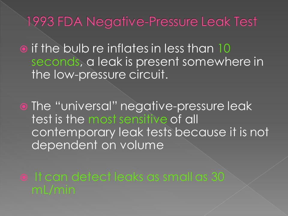 1993 FDA Negative-Pressure Leak Test