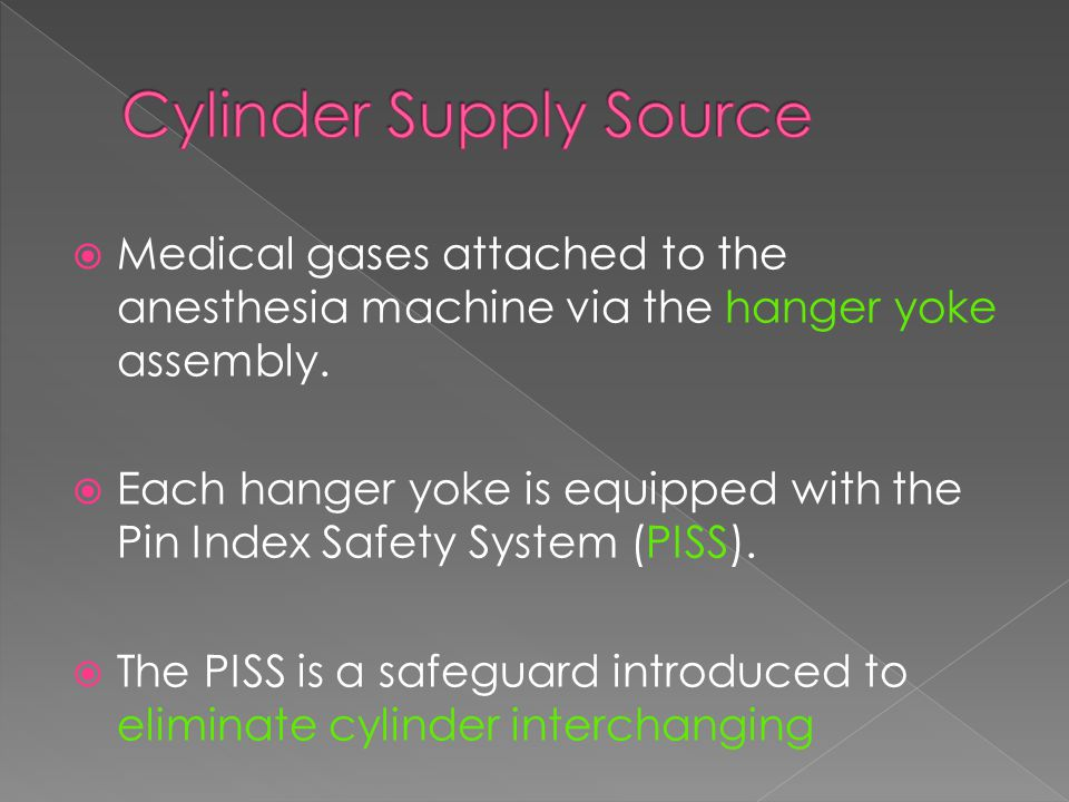 Cylinder Supply Source