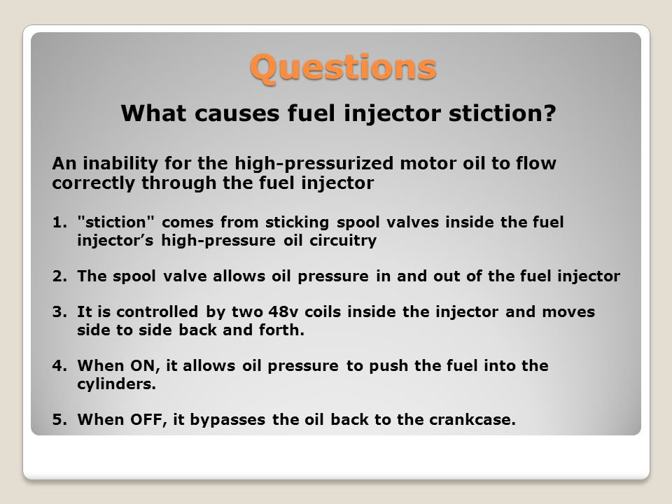 What causes fuel injector stiction