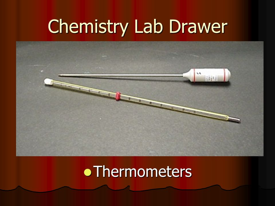Chemistry Lab Drawer Thermometers