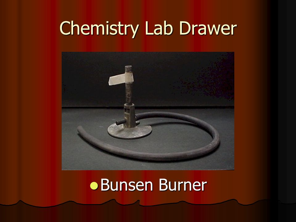 Chemistry Lab Drawer Bunsen Burner