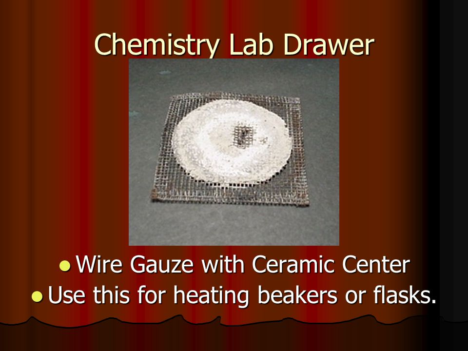 Chemistry Lab Drawer Wire Gauze with Ceramic Center