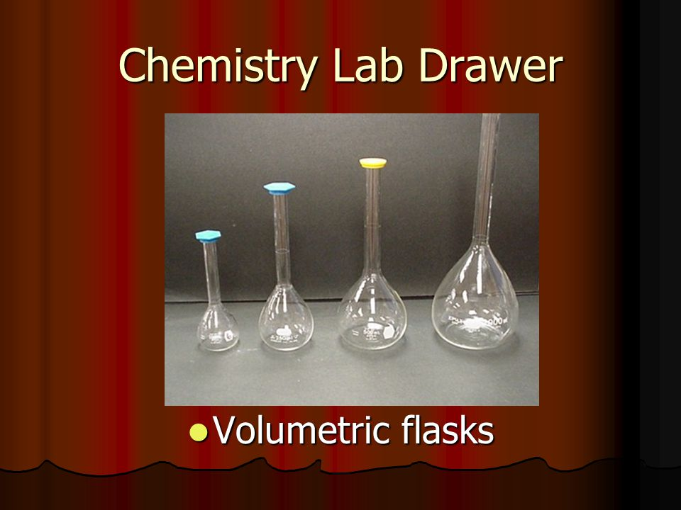 Chemistry Lab Drawer Volumetric flasks